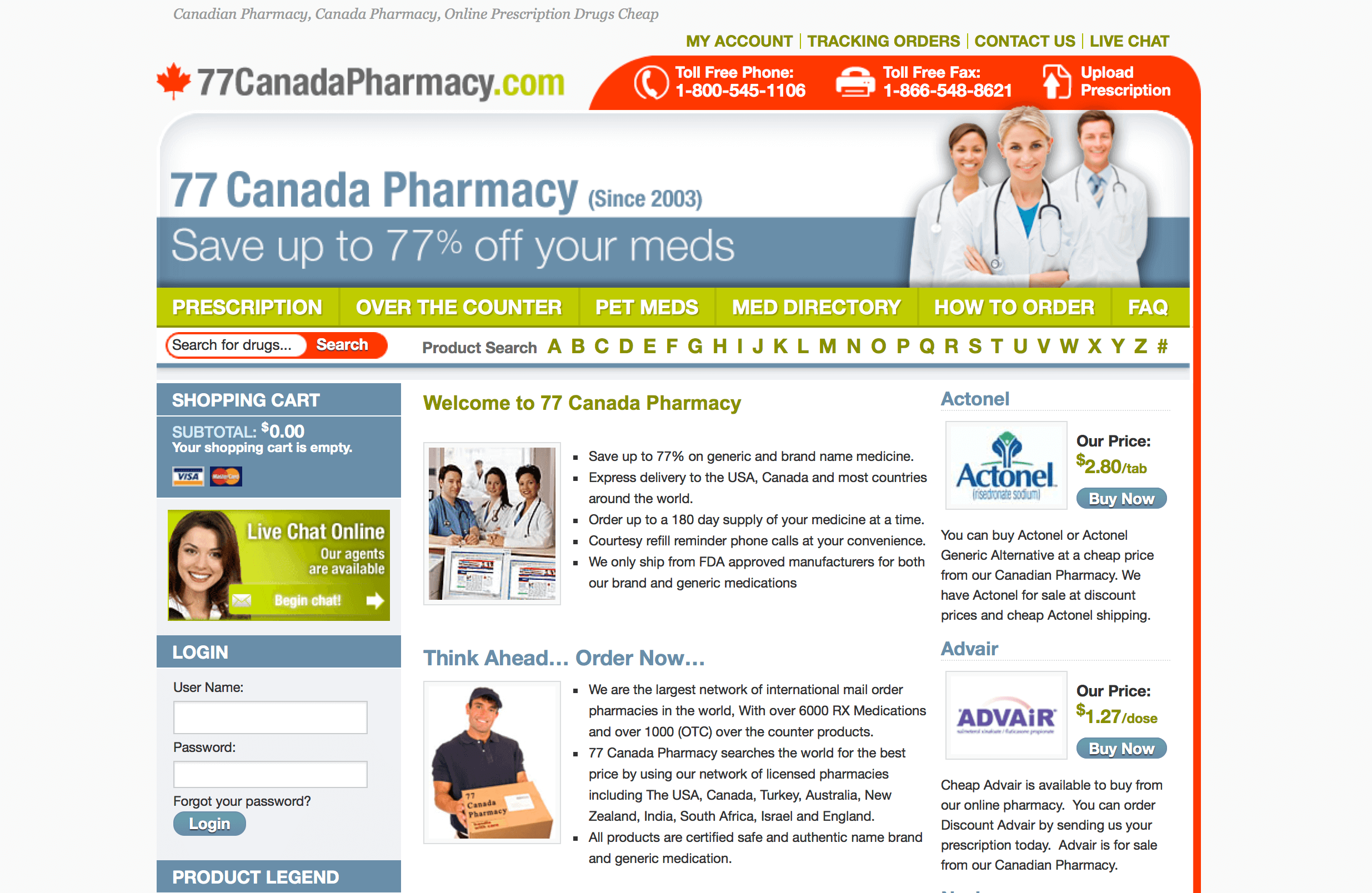 77CanadaPharmacy.com Pharmacy Review