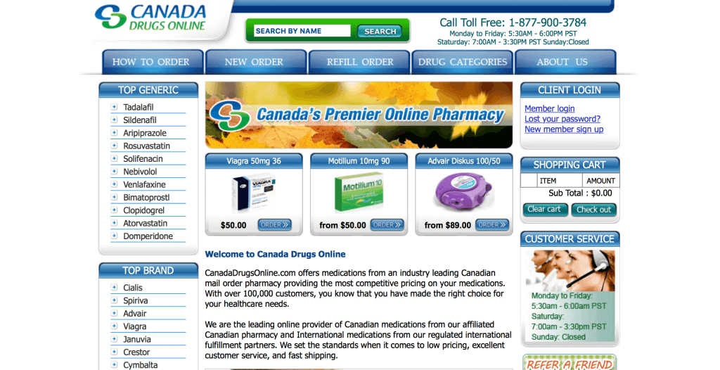 CanadaDrugsOnline.com Pharmacy Review