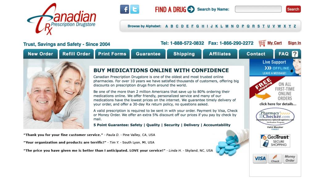 CanadianPrescriptionDrugstore.com Pharmacy Review