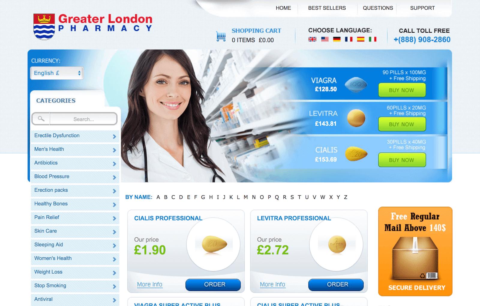 GreaterLondonPharmacy.com Pharmacy Review