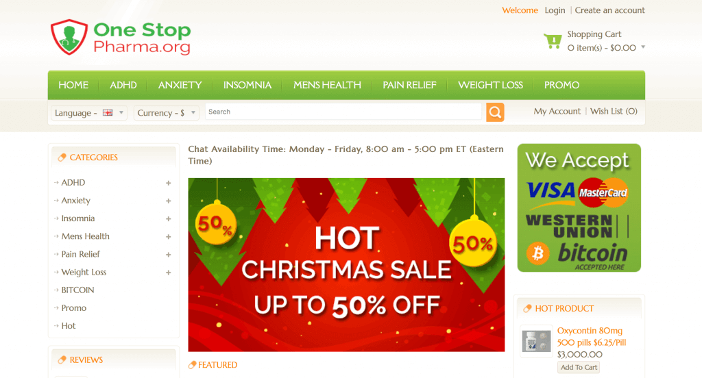 OneStopPharma.org Pharmacy Review
