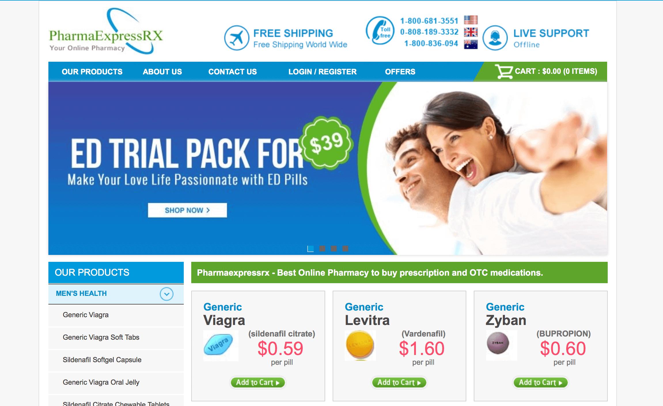 PharmaExpressRX.com Pharmacy Review