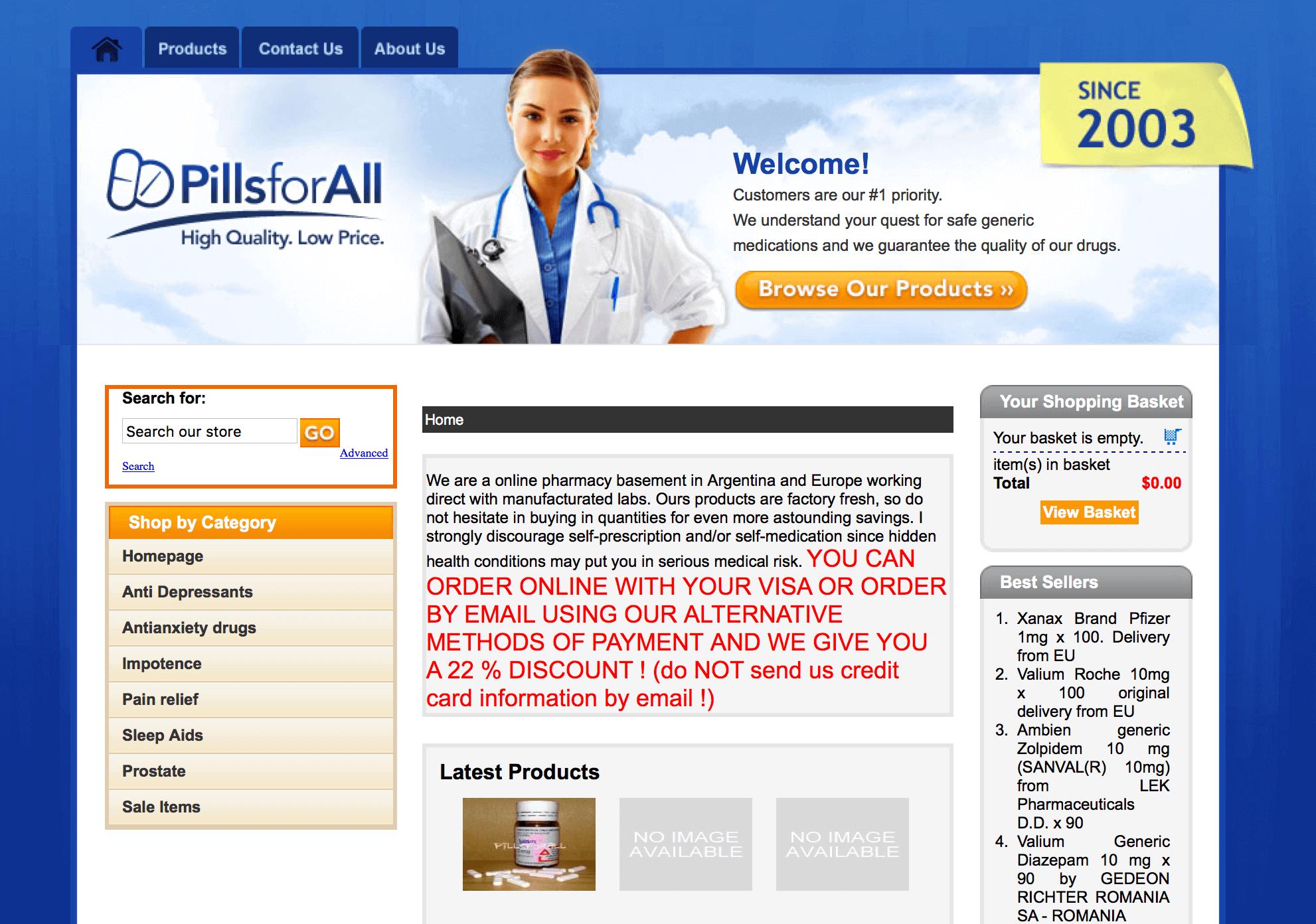 PillsForAll.com Pharmacy Review