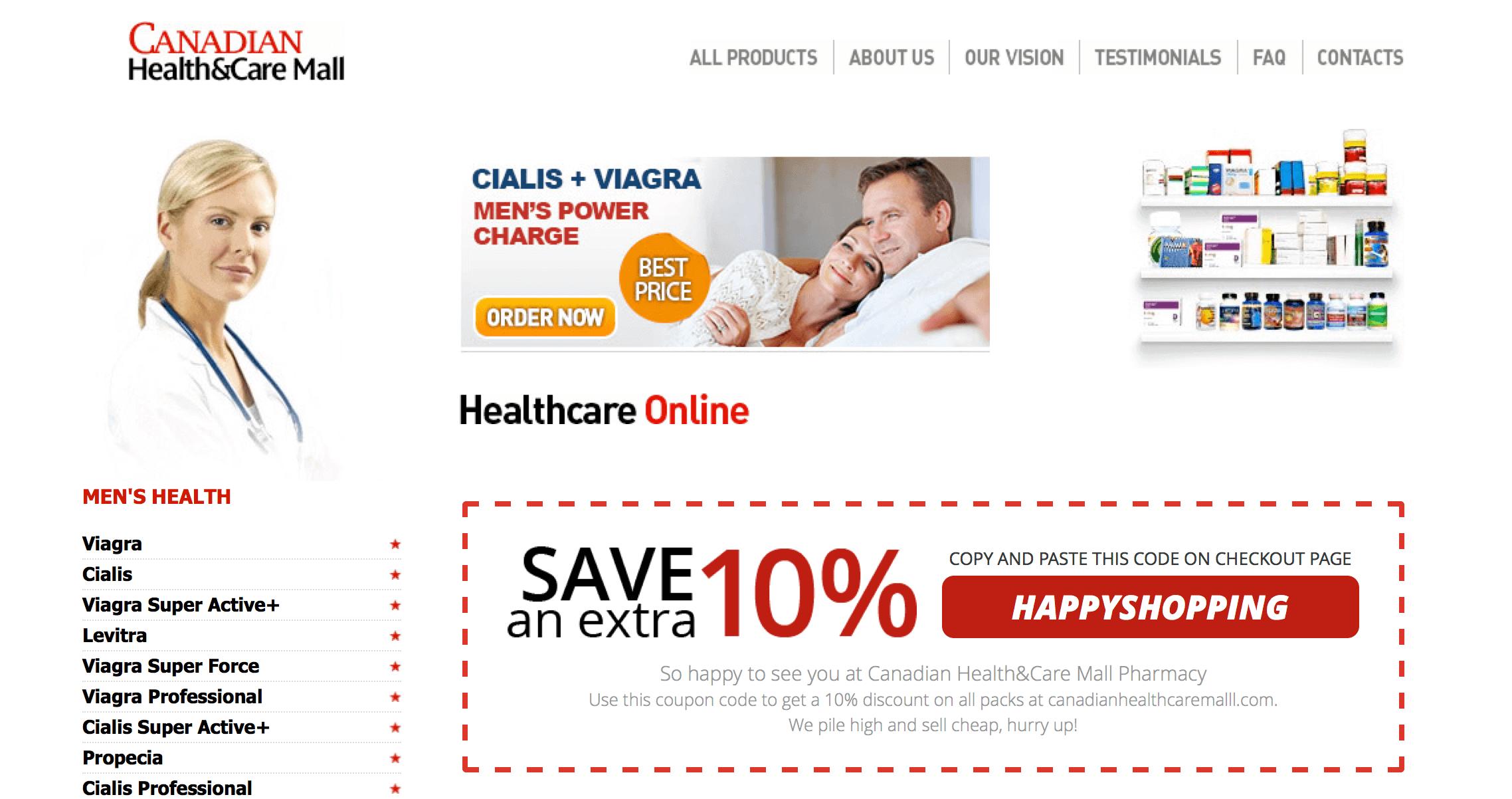 CanadianHealthCareMalll.com Pharmacy Review