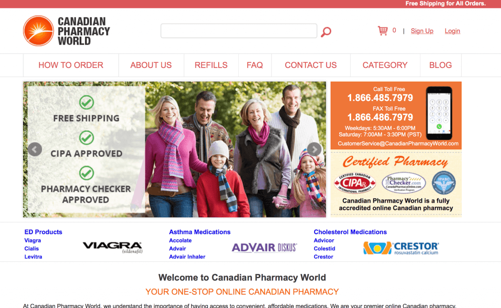 CanadianPharmacyWorld.com Pharmacy Review