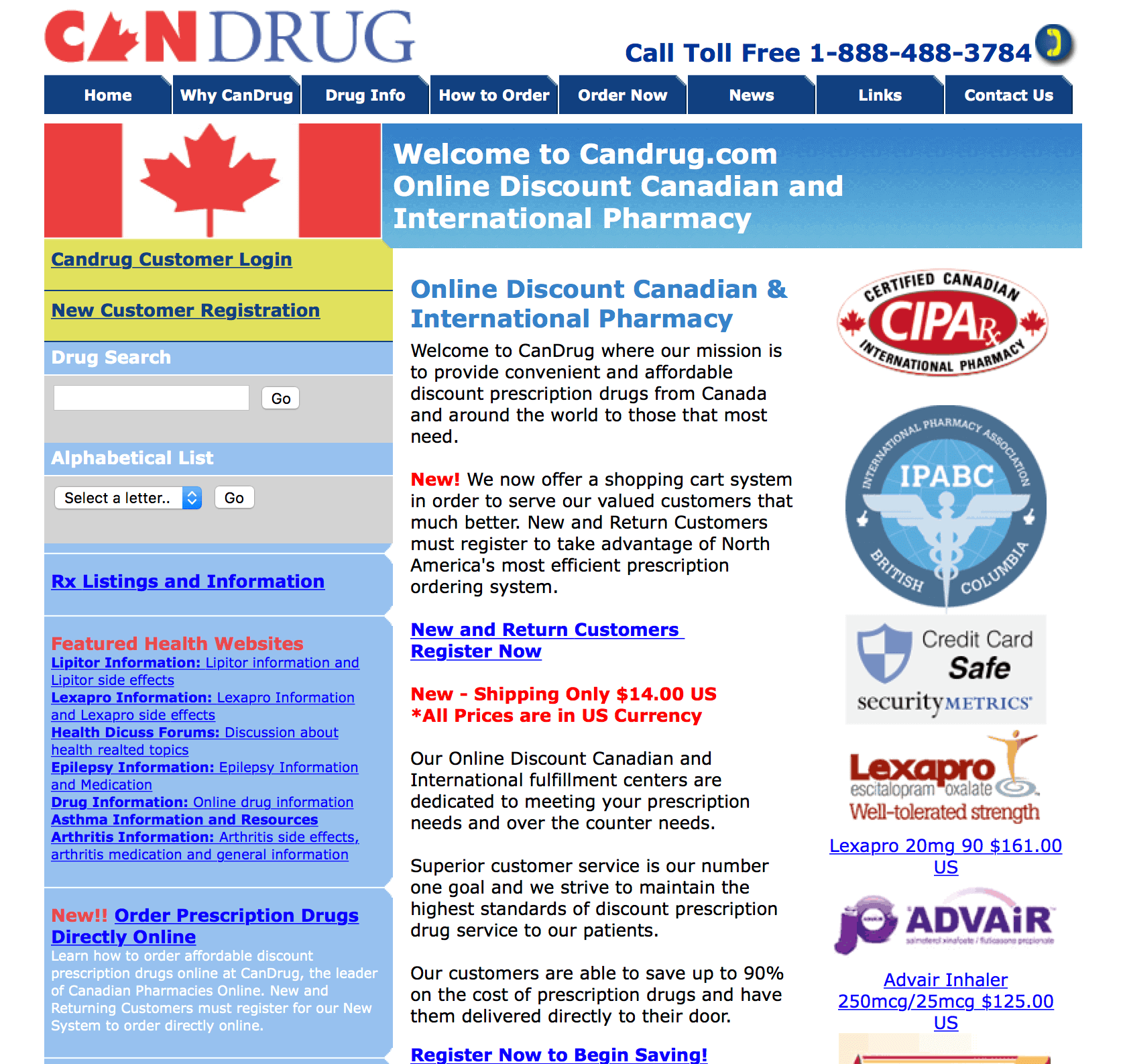 CanDrug.com Pharmacy Review