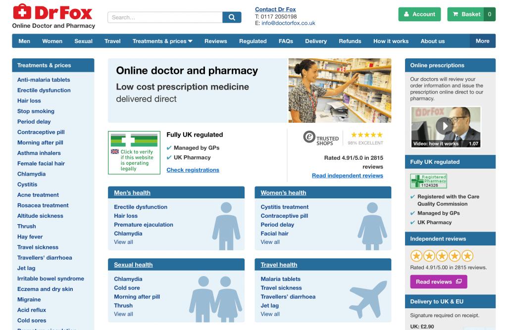 DoctorFox.co.uk Pharmacy Review