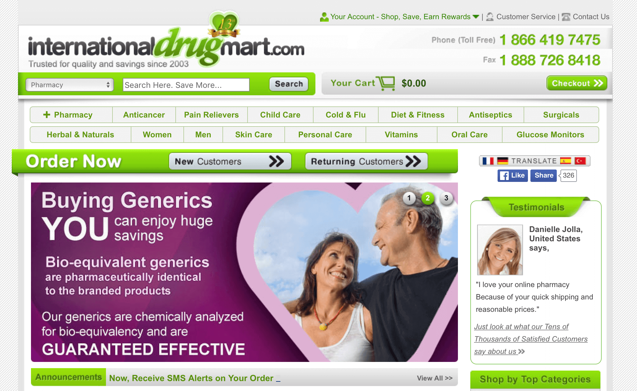 InternationalDrugMart.com Pharmacy Review