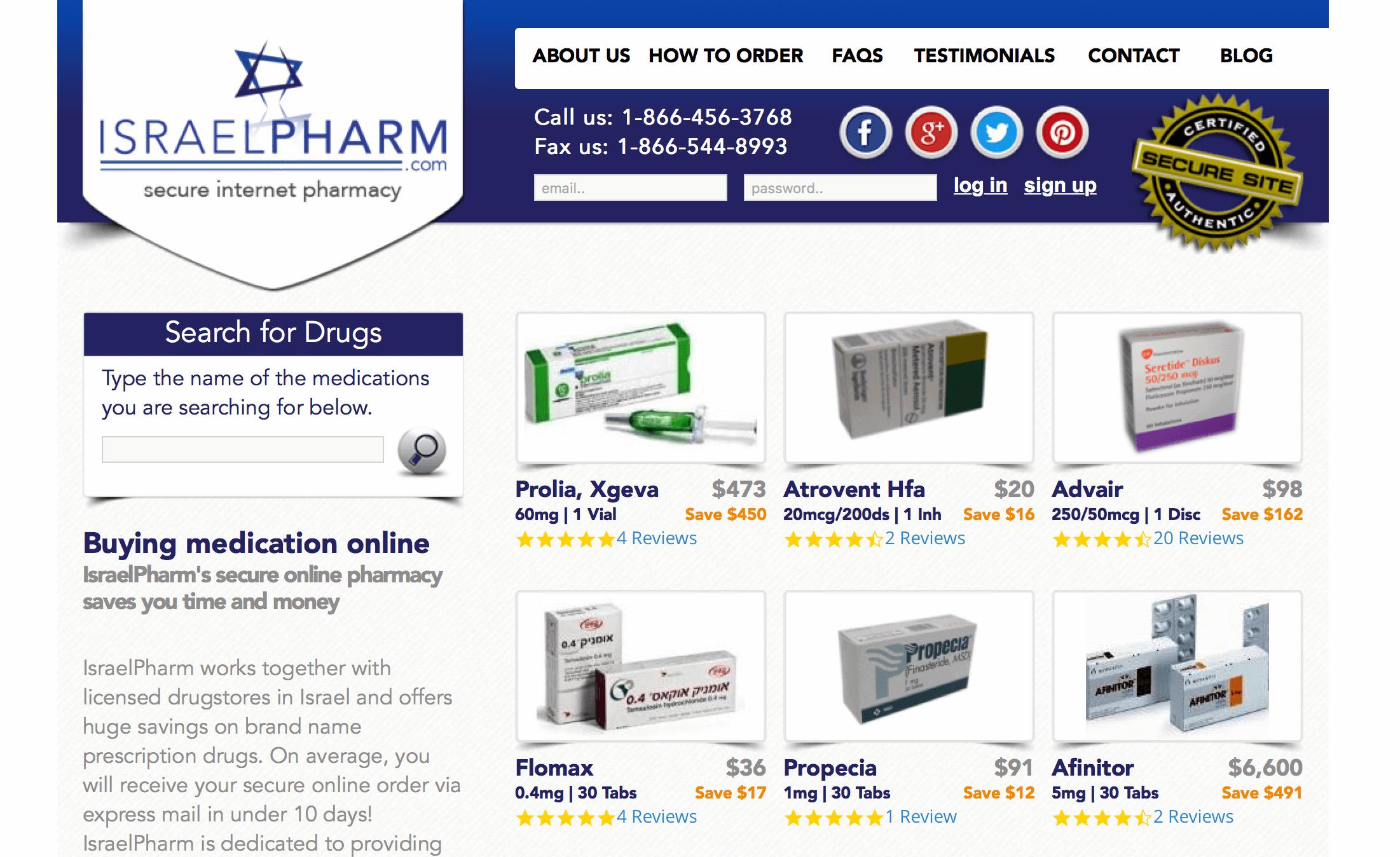 IsraelPharm.com Pharmacy Review