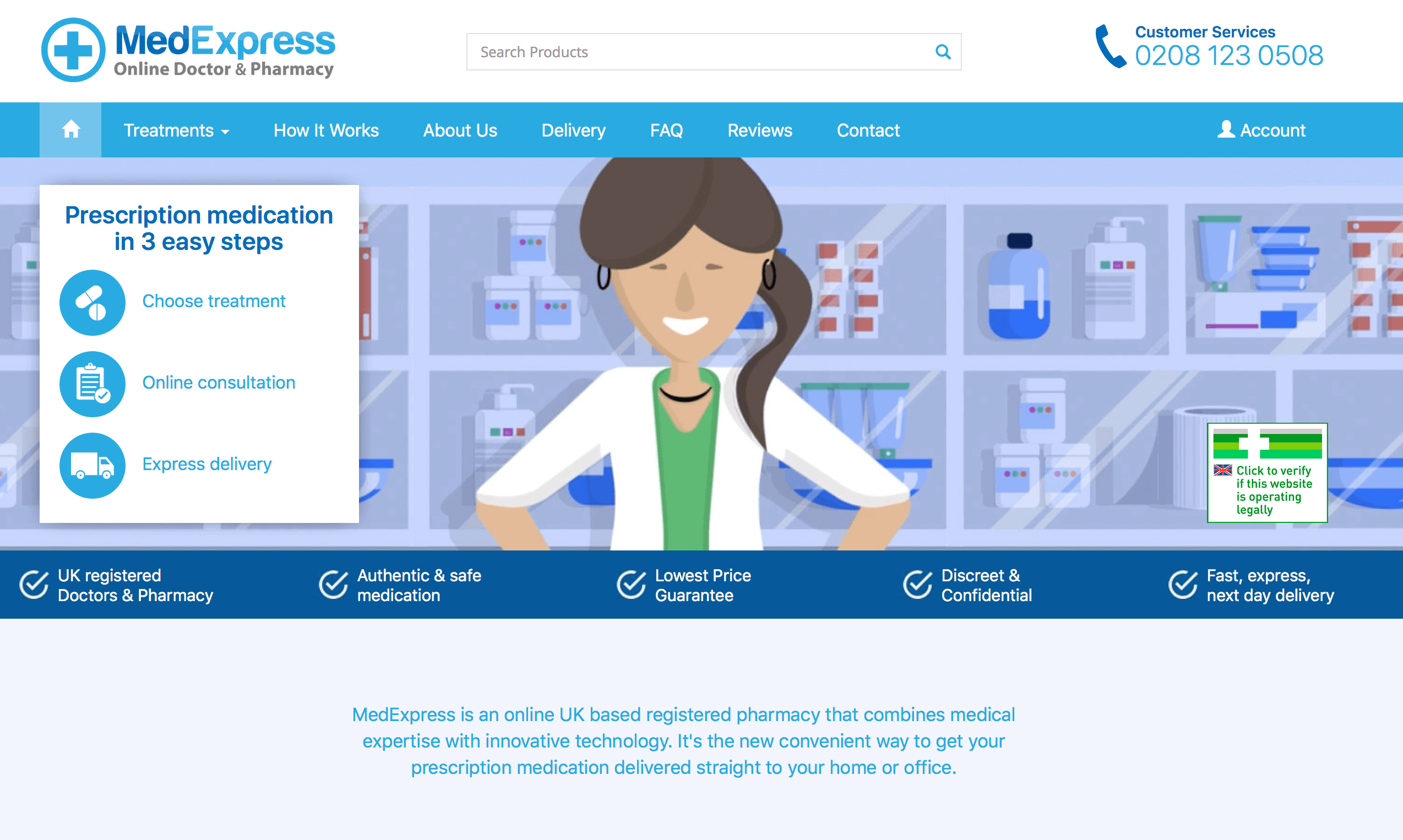 MedExpress.co.uk Pharmacy Review