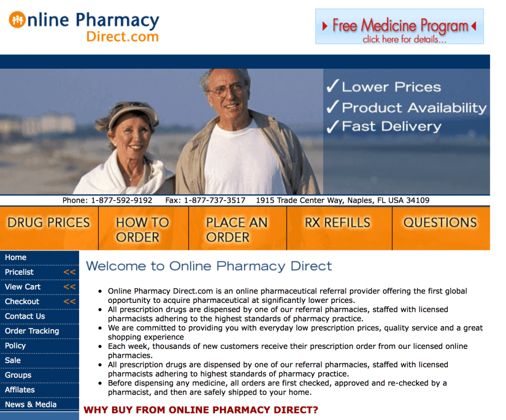 OnlinePharmacyDirect.com Pharmacy Review