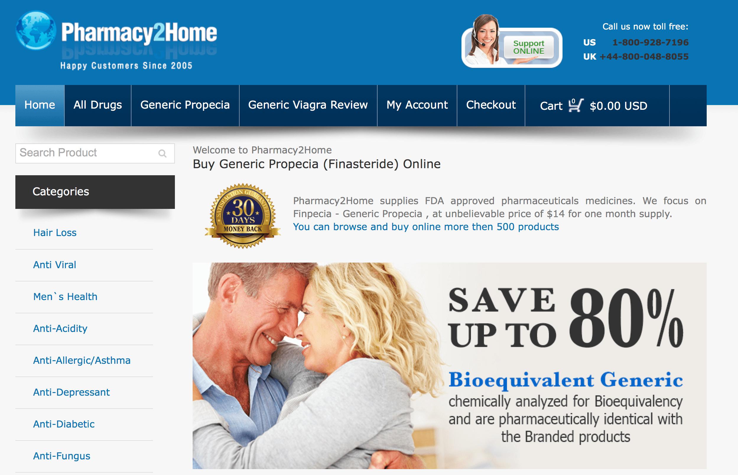 Pharmacy2Home.com Pharmacy Review