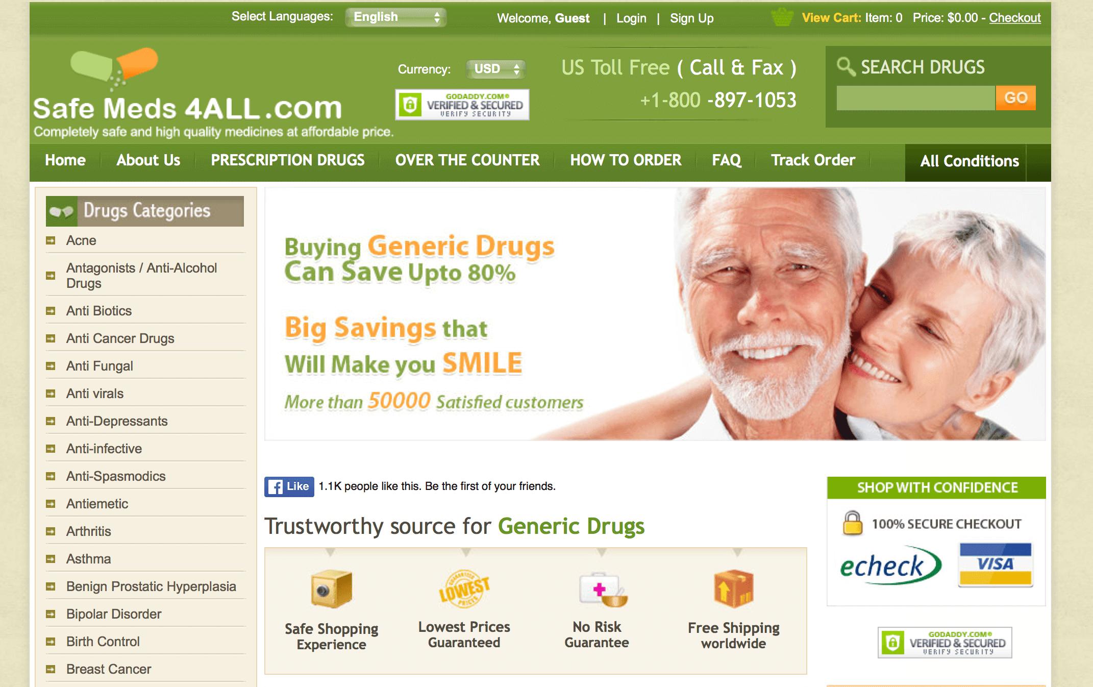 SafeMeds4all.com Pharmacy Review