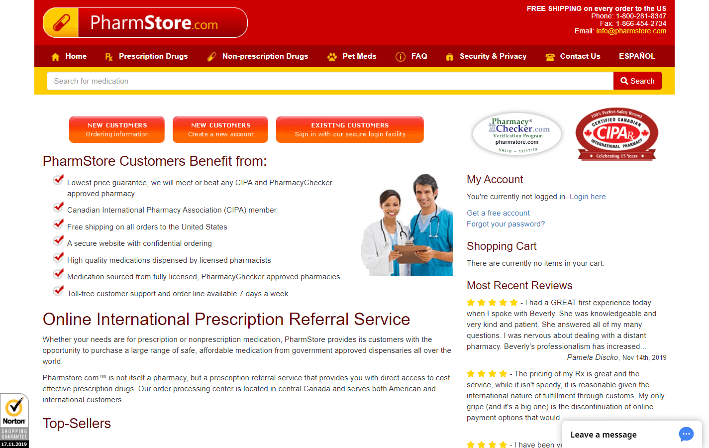 PharmStore.com pharmacy review