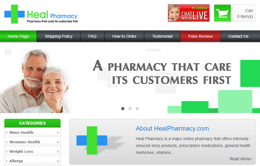 Healpharmacy.com Pharmacy Review