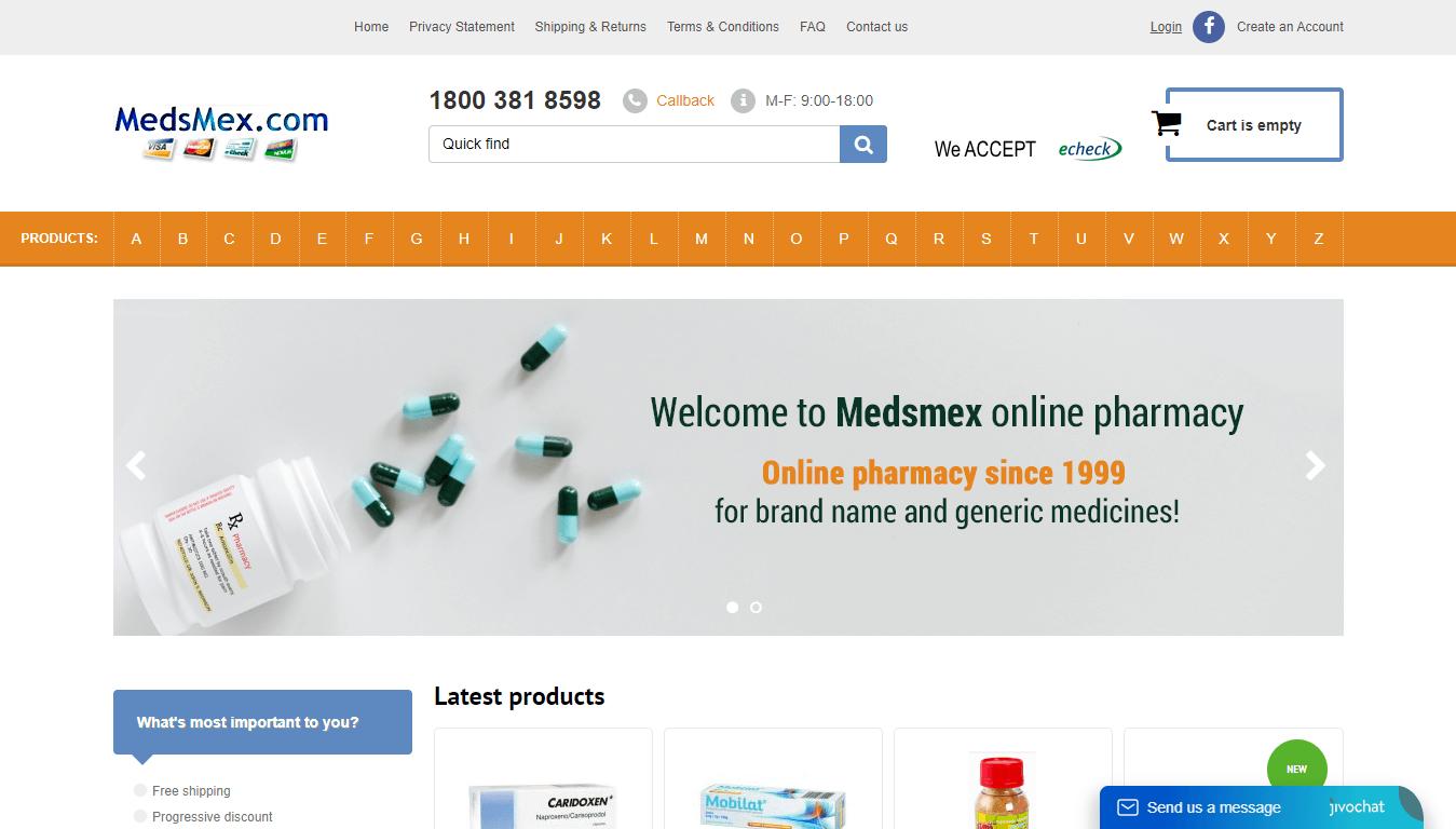 MedsMex.com Site