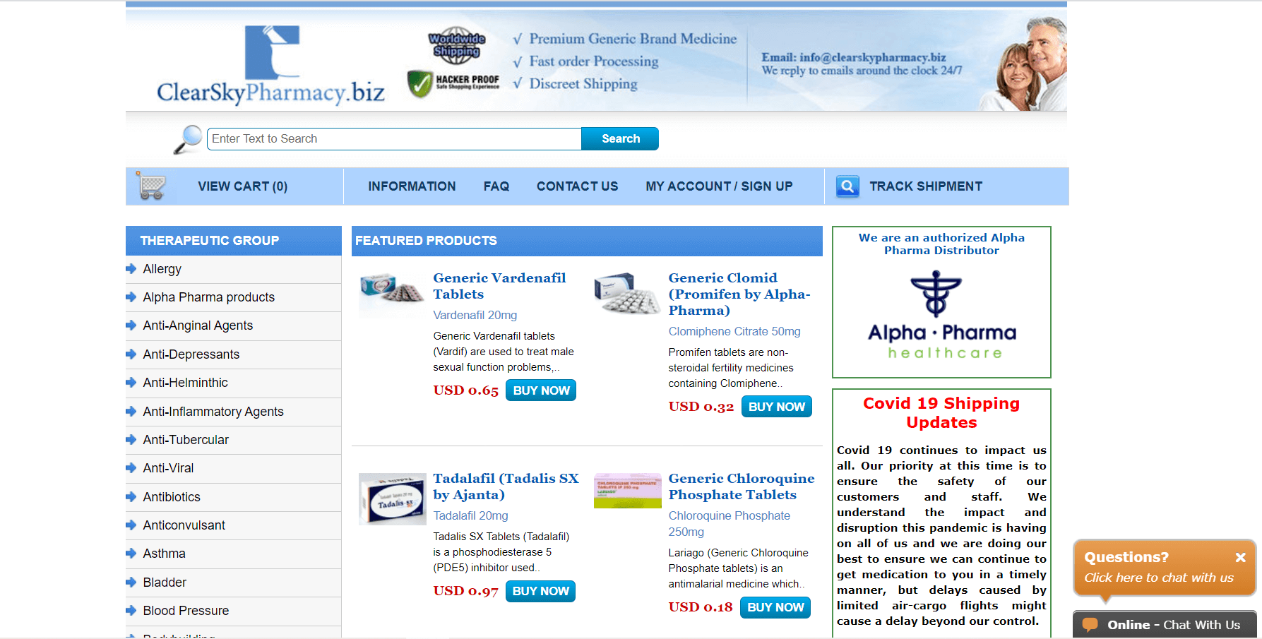 ClearSkyPharmacy.biz Review